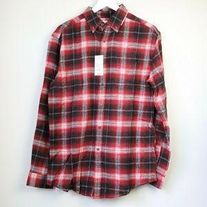 NEW Croft & Barrow Men's Plaid Button Down Shirt
